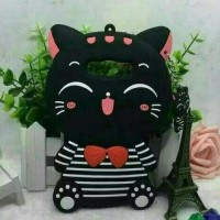 CASE CASING HP OPPO NEO 7 A33 3D BOWKNOT LUCKY CAT KARTUN SOFT SILIKON