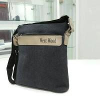Jual Tas Selempang HP Ipad Gadget Retro Style Pria Sling Bag Cowok Kanvas Murah