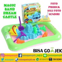 Mainan Pasir Ajaib Pasir Kinetik Magic Sand Dream Castle + Alas Balon