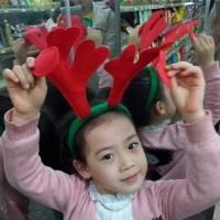 Bando Natal bentuk tanduk rusa polos (sesuai gambar)