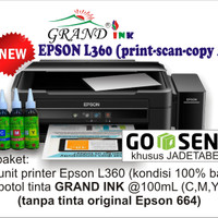Printer Epson L360 (PRINT, COPY, SCAN) + tinta Grand Ink