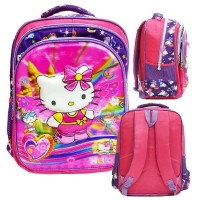 Oke Tas Anak Sekolah SD Hello Kitty5D Timbul Hologram Import Dan