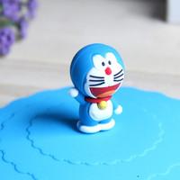 Jual Tutup Gelas Unik KHM059 Bahan Silikon Motif Doraemon,HK,Rilakuma,Pooh Murah