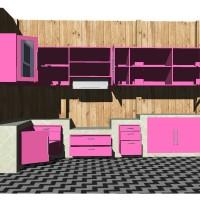 Kitchen Set Minimalis , Playwood, Kayu Jati, Kayu Mahoni