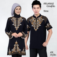 [ Pelangi couple AK ] pakaian couple baju muslim warna hitam