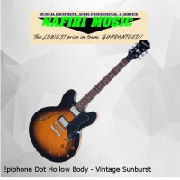 Epiphone Dot Hollow Body - Vintage Sunburst Baru