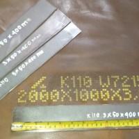 Tool steel Bohler K110 Tebal 3mm setara AISI D2 Plat Baja High Carbon