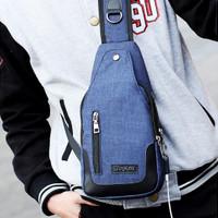 Jual Tas Selempang Pria/Shoulder Bag/Sling Bag Pria/Tas Import Pria Blue Murah