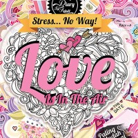 Jual Coloring Diary For Adult: Love Is In The Air HC (Hard Cover) Murah
