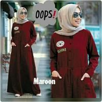 Baju murah!! tanah abang maxi gamis hijab syari amanda maron TAG