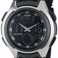 Jam Tangan Pria Casio AQ160W 1b Analog Digital Untuk Pria Formal Cas