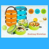 Jual Rantang 3 Susun Polos Lunch Box Tempat Makan Lauk Sayur Stainless Murah