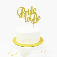 Jual Cake topper bride to be bridal shower or engagement Murah