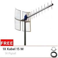 Antena Yagi Grid TXR 175 Modem Huawei K3520 Pigtail Single 15M