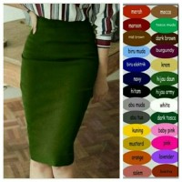 Pencil Midi Skirt / Rok Span Midi