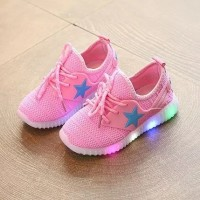 Jual Pink LED Shoes X32 size 35 (mirip yeezy/yezzy) Murah