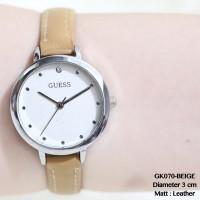Jam tangan guess fossil leather kulit plat kayu supplier termurah new