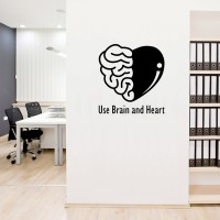 Wall Sticker Use Brain Heart Dinding Kaca Kantor Pintu Kafe Stiker