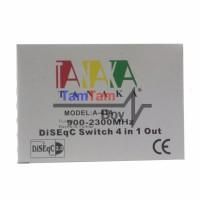 Tanaka DiSeqC Switch 4x1 (Untuk 4 LNB/Satelit To 1 Receiver)