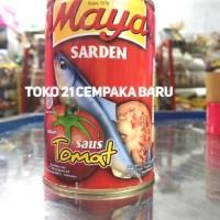 Maya Sarden Saus Tomat 425g   Sardines Ikan Kaleng Besar 425 gr Murah