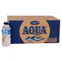 AQUA Air Mineral 330ml 1 Karton   24 Botol x 330 ml Putih Kemasan Mini