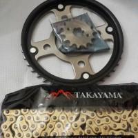 gear set verza gear paket mega pro new monoshok 2011 gold baja emas