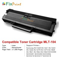 Cartridge Compatible MLT-104 MLT-D104S MLT-D1042S, Printer Samsung