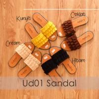 UD01 SANDAL RUFFLE FLAT SELOP WANITA