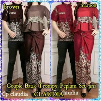 Couple Batik Trompy Peplum Set 3in1 CLAUDIA