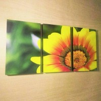 Hiasan Dinding Pajangan Frameless Wallprint Art Gambar Bunga Matahari