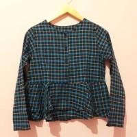 peplum babydoll tunik blouse unik busui blus baju atasan wanita kotak