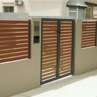 pintu pagar model kayu minimalis