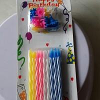 Lilin ulang tahun, lilin ulir, candle, isi 18pcs