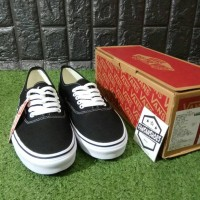 Sepatu VANS Authentic Canvas Black White Grade Authentic