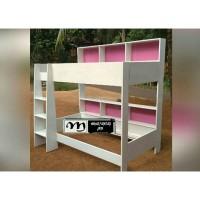 tempat tidur anat tingkat pink