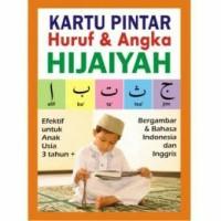 Kartu Pintar Angka Huruf Hijaiyah Arab Inggris Indonesia Flash Card