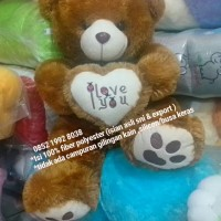 Jual super lembut brown boneka teddy ber love jumbo full dakron Murah