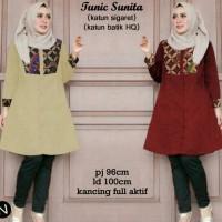 64100 tunic sunita/baju tunik murah/atasan muslim wanita/baju grosir