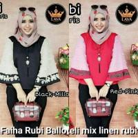 Atasan wanita murah / Blus muslim / Baju hijab model baru : Faiha rubi