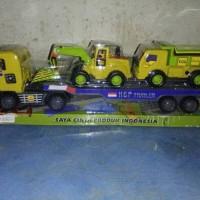 mainan mobil truck kontainer plus 2mobil truck