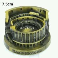 ROME Collosseum Miniatur Pajangan Roma ITALY 7.5cm