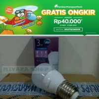 Jual Bohlam lampu philips LED bulb 3 W 3 Watt 3W putih Murah
