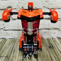 Mainan mobil remote control Rc car transformer robot radio control