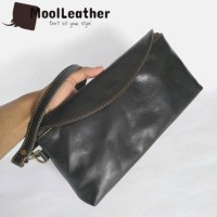 Hand bags tas wanita asli kulit sapi pull-up warna hitam