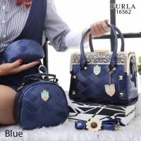 Tas FURLA Raffles City 3in1 Bags Glossy Leather Hardware Gold 16562