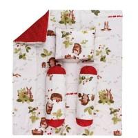 BEEBIES BEDDING SET ( Pillow,Bolster & Blanket ) HEDGEHOG