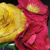 bunga tangkai 3 warna dari kulit jagung