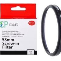 Filter UV Canon 58mm Fujifilm Dslr Slr Mirrorless Nikon Sony kit 18-55