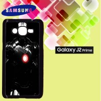 Casing Hardcase HP Samsung J2 Prime Iron Man Black Armour Custom Case