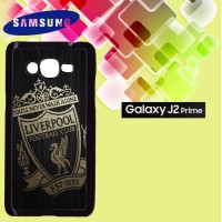 Casing Hardcase HP Samsung J2 Prime gold liverpool logo Custom Case